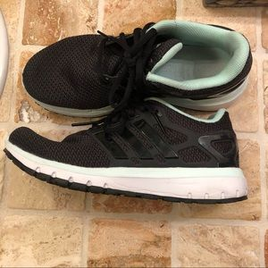 [Adidas] Black/Sea Foam Cloudfoam Running Shoes